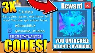 3 SECRET BUBBLE GUM SIMULATOR ATLANTIS PET CODES! Roblox