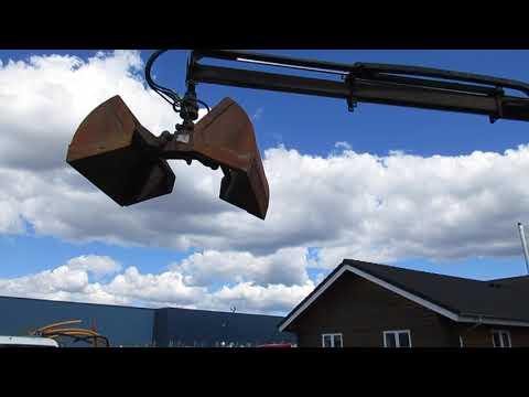 Video: Man Lastbil med Kran, wirehejs og kasse 1