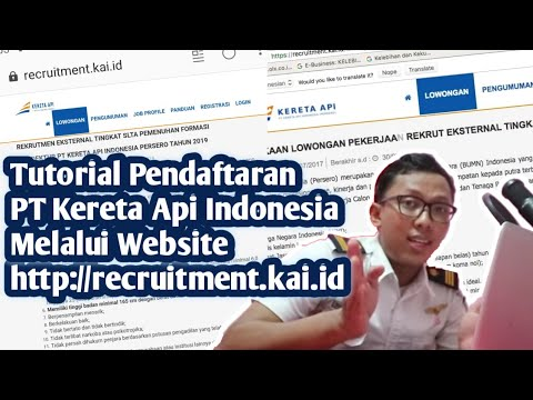 TUTORIAL DAFTAR KAI & CARA ISI RECRUITMENT.KAI.ID