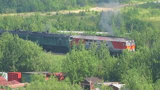 Тепловозы ТЭП70-0218, 2ТЭ10У-0086, 2ТЭ10У-0044 отправляются в Исакогорку