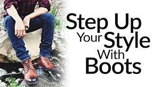Step-Up Casual Style With Leather Dress Boots | ONE Mens Shoe Upgrade To More Fashionable Wardrobe