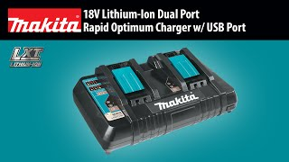 MAKITA 18V Lithium-Ion Dual Port Rapid Optimum Charger - Thumbnail