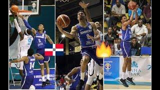 Republica Dominicana vs Bahamas Luis Montero, Rigoberto Mendoza FIBA 2018 FBWC Selección Dominicana