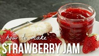 How to Make Strawberry Jam!! Homemade Small Batch Preserves Recipe