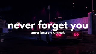 Zara Larsson & MNEK - Never Forget You (Lyrics)