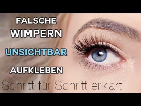 FALSCHE Wimpern UNSICHTBAR aufkleben - OHNE Lidstrich! Schritt für Schritt erklärt -  TheBeauty2go