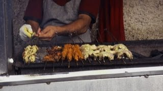 Grilled Chicken in a Roadside Restaurant, Mumbai