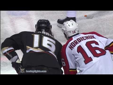Darcy Hordichuk vs George Parros