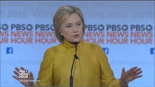 6th Democratic Presidential Debate by PBS (FULL) - 02-11-2016