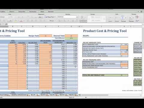 Food Product Cost & Pricing Tutorial