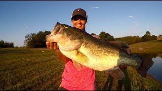 Liz Catches a Massive 10 lb. Bass