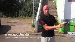 F645 F-Series MJX Hubschrauber Crash und Flugtest von Gobelus.de