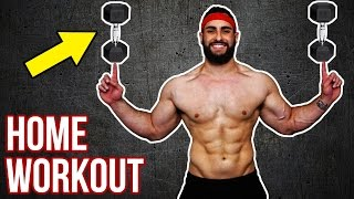 Beast No-Gym Upper Body Dumbbell Home Workout   Build Muscle With This KILLER Upper Body Workout!! by BarbarianBody