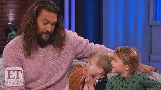 Jason Momoa Charms Kelly Clarksons Kids