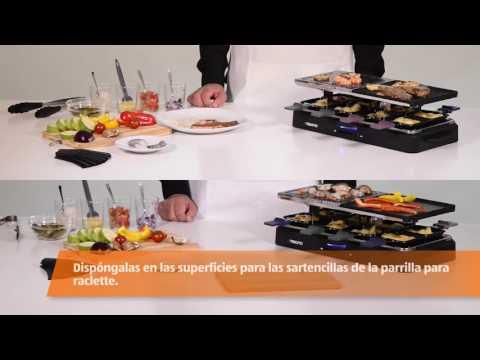 Parrilla raclette para fiestas