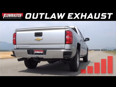 Flowmaster Outlaw Cat-back Exhaust 2014-2018 Chevy Silverado, GMC Sierra 5.3L - 817689