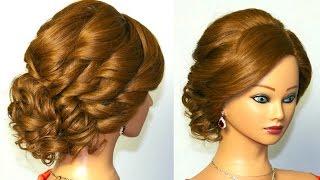 Смотреть онлайн Нежная свадебная прическа на длинные волосы