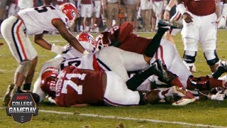 The sights, sounds and smells at the bottom of a football pile | College GameDay