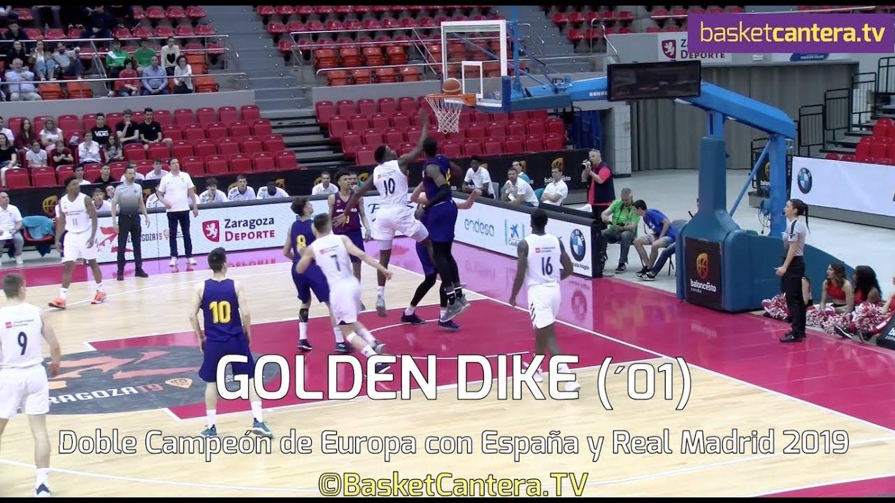 GOLDEN DIKE (´01) 2,01 m. Doble Campeón de Europa con España y Real Madrid (BasketCantera.TV)