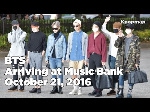 161028 BTS (방탄소년단) arriving at Music Bank @Kpopmap - Kpopmap