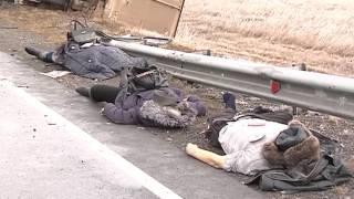 Жуткая авария произошла сегодня утром на 375м километре трассы М-54 - за Пригорском