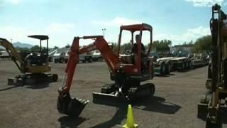 Operating a Kubota mini excavator