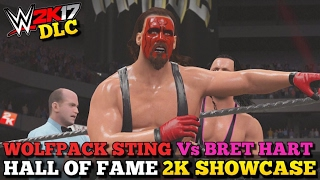 WWE 2K17 Hall of Fame DLC: Sting vs Bret Hart Full Showcase (All Objectives Completed!)