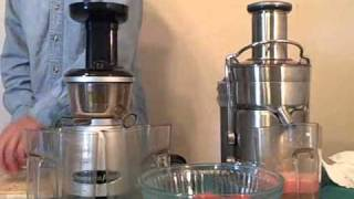 Breville Juice Fountain Elite vs Omega VRT350HD Juicer Review
