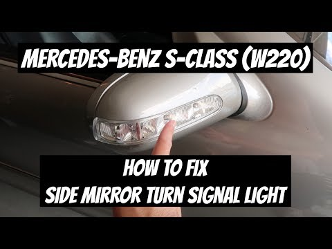 How to Fix and Replace the Side Mirror Turn Signal | Mercedes-Benz S-Class (W220)