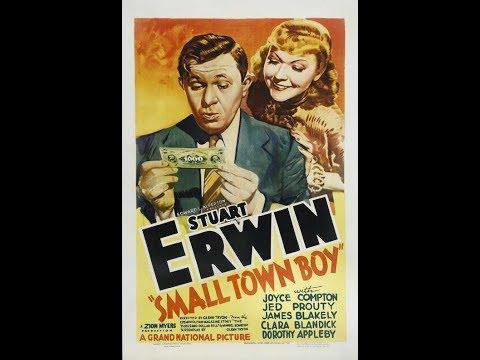 1937 COMEDY ROMANCE — Small Town Boy — Funny Stuart Erwin Lovely Joyce Compton! Black White Classic