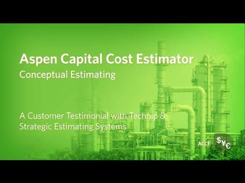 Conceptual Estimating in Aspen Capital Cost Estimator Testimonial ...