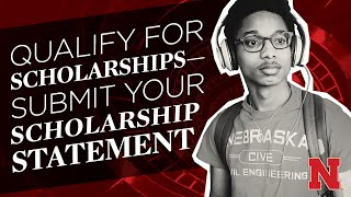 Qualify for Scholarships–Submit your Scholarship Statement