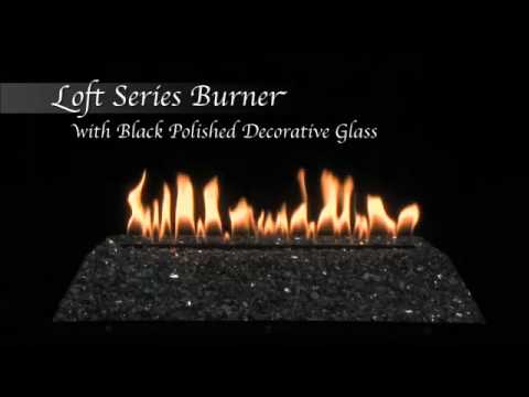 Loft Series Burner with Polished Black Decorative Glass by Empire Comfort Systems