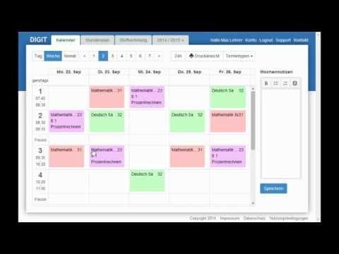 DIGIT - digitaler Unterrichtsplaner und Lehrerkalender