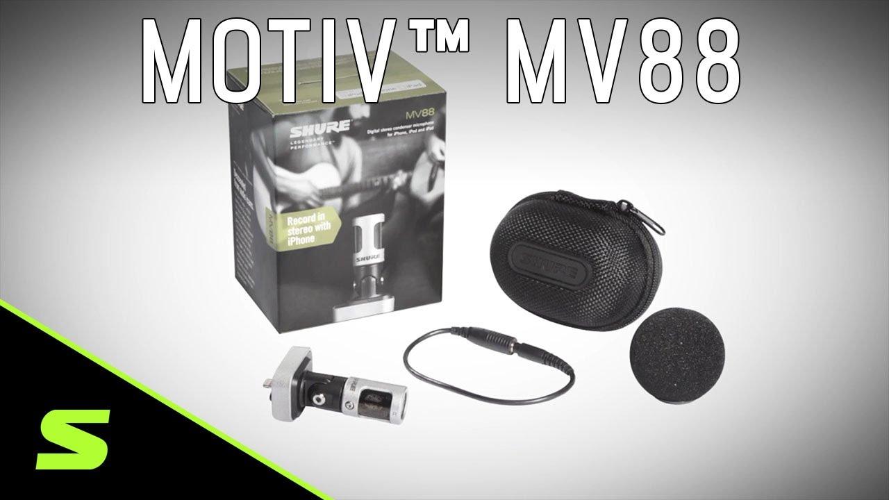 Shure MOTIV MV88 iOS Digital Stereo Condenser Microphone Product Video
