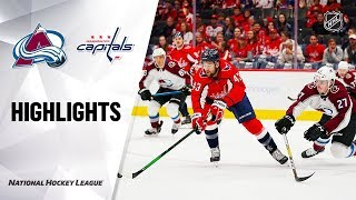 Avalanche @ Capitals 10/14/19 Highlights