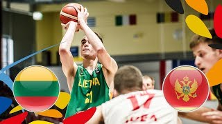 Lithuania v Montenegro - Full Game - Class. 9-12 - FIBA U20 European Championship 2018 | Kholo.pk