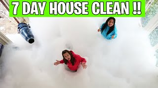 HOW TO CLEAN A WHOLE HOUSE FILLED WITH FOAM!!