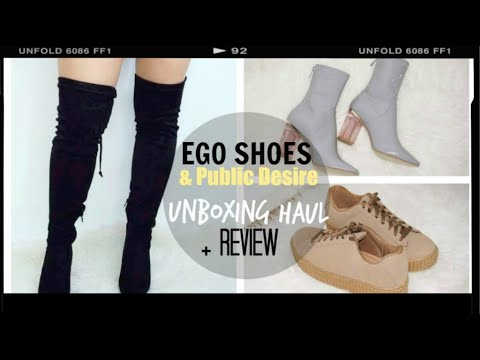 EGO OFFICIAL SHOES & PUBLIC DESIRE UNBOXING HAUL & REVIEW │Jennifer Drs ♡