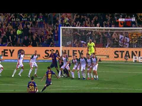 Lionel Messi Free Kick Goal VS Deportivo Alaves  *1-0* 18/08/2018 HD