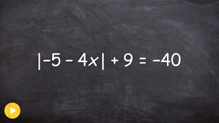 Solving an Absolute Value Equation with no Solution - Free Math Videos