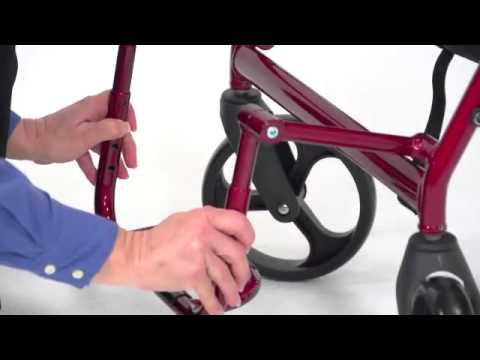 Image of Drive Medical - Duet Transport Chair Rollator video