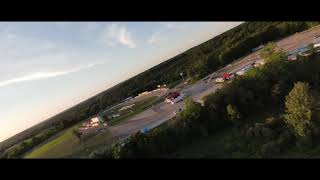 DJI FPV drone at the race track