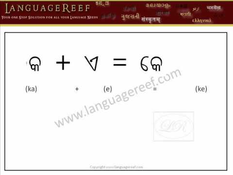 Learn Oriya Vowel signs with audio and transliteration - Learn Indian Language Series