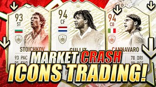 MARKET CRASH ICON TRADING!! HOW TO MAKE EASY COINS THROUGH TREND TRADING?! FIFA 20 Ultimate Team