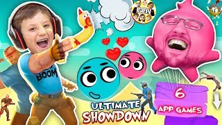 LOVE BALLS Challenge! FGTEEV MOBILE GAMES SHOWDOWN! Dad vs Son Gameplay/Skit