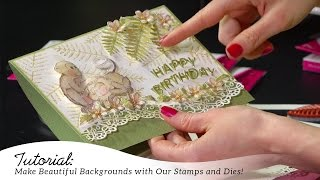 EZ Steps to Creating Backgrounds with Stamps and Dies