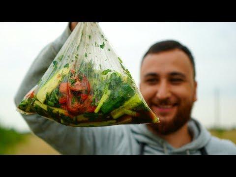 Быстрый маринад овощей в пакете