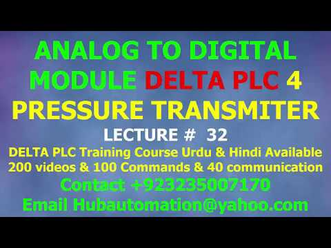 DELTA PLC DIGITAL TO ANALOG MODULE 4DA & 06XA INTRODUCTION