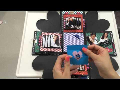 Explosion box / birthday box / diy / handmade / falling card